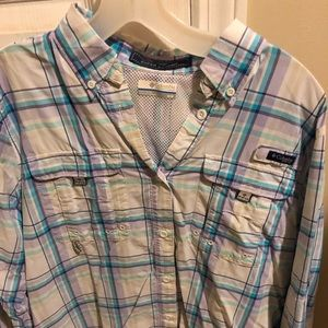 Columbia long sleeve button up